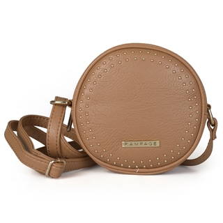 Rampage Women's Studded Round Crossbody Handbag