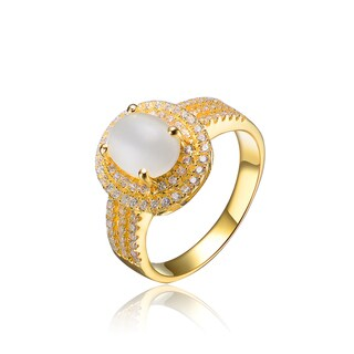 Collette Z Gold Plated Pearl Ring - Clear