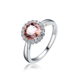 Collette Z Sterling Silver Bronze Cubic Zirconia Halo Ring
