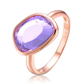 Collette Z Rose Gold Plated Purple Cubic Zirconia Ring