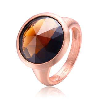 Collette Z Rose Gold Bronze Cubic Zirconia Ring