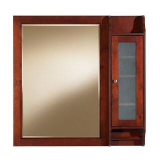 Largo 36-inch Rectangular Bathroom Vanity Mirror with Side Medicine Cabinet, Cherry