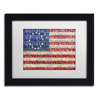 Design Turnpike 'Betsy Ross Flag' White Matte, Black Framed Canvas Wall Art