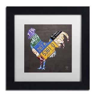Design Turnpike 'Rooster' White Matte, Black Framed Canvas Wall Art