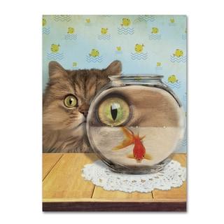 J Hovenstine Studios 'Cat Series #3' Canvas Wall Art