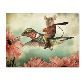 J Hovenstine Studios 'Catching A Ride On A Hummingbird' Canvas Wall Art