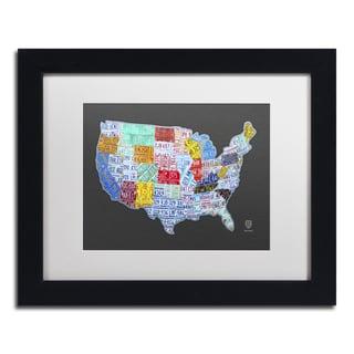 Design Turnpike \'Massive USA License Plate Map\' White Matte, Silver ...