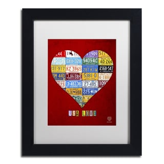 Design Turnpike 'Heart' White Matte, Black Framed Canvas Wall Art