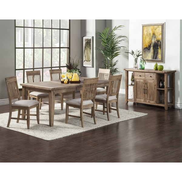 Somette Blue Island 5-Foot Natural Dining Table with ...