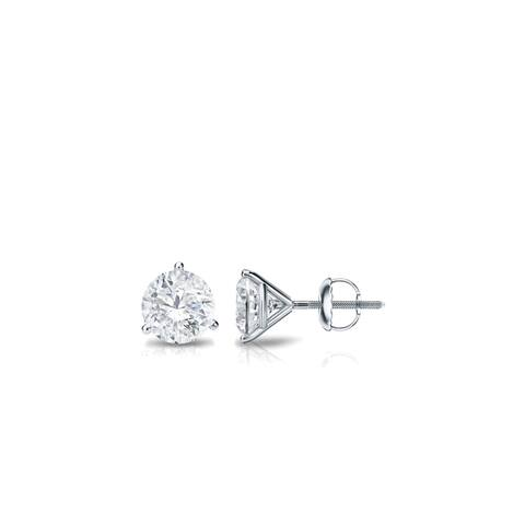Auriya 18k Gold 0.25ctw Round Diamond Stud Earrings Martini-set