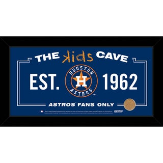 Steiner Sports MLB Houston Astros 10x20 Kids Cave Sign w/ Game Used Dirt from Minute Maid Park
