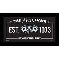 Steiner Sports NBA San Antonio Spurs 6-inch x 12-inch Kids Cave Sign