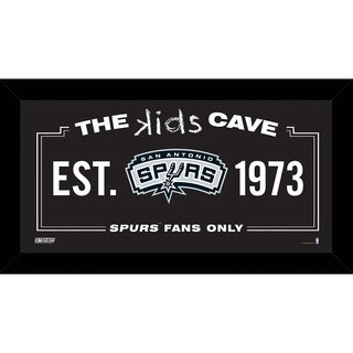 Steiner Sports NBA San Antonio Spurs 6-inch x 12-inch Kids Cave Sign