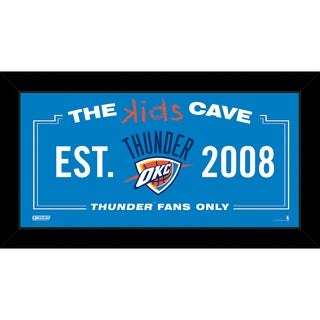 Steiner Sports NBA Oklahoma City Thunder 6x12 Kids Cave Sign