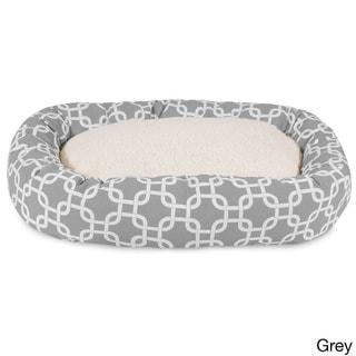 Majestic Pet Links Sherpa Bagel Pet Bed in Grey (As Is Item)