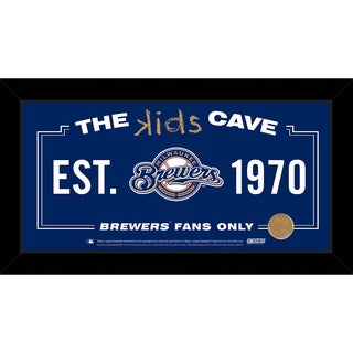 Steiner Sports MLB Milwaukee Brewers 10x20 Kids Cave Sign w/ Game Used Dirt from Miller Park