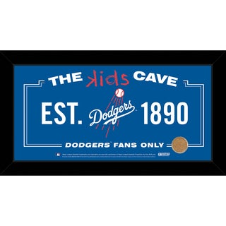 Steiner Sports MLB Los Angeles Dodgers 10x20 Kids Cave Sign w/ Game Used Dirt from Dodger Stadium