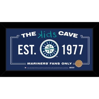Steiner Sports MLB Seattle Mariners 10x20 Kids Cave Sign w/ Game Used Dirt from Safeco Field