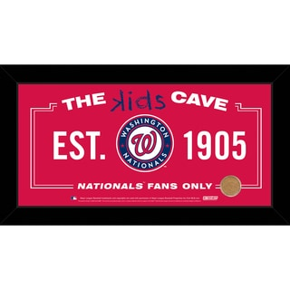 Steiner Sports MLB Washington Nationals 10x20 Kids Cave Sign w/ Game Used Dirt from Nationals Park