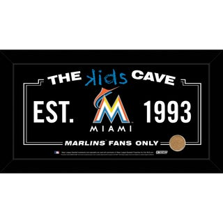 Steiner Sports MLB Miami Marlins 10x20 Kids Cave Sign w/ Game Used Dirt from Marlins Park