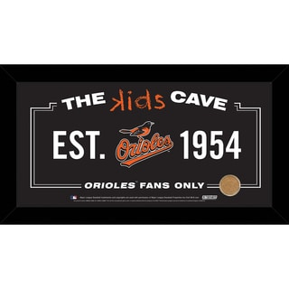Steiner Sports MLB Baltimore Orioles 10x20 Kids Cave Sign w/ Game Used Dirt from Oriole Park at Camden Yards
