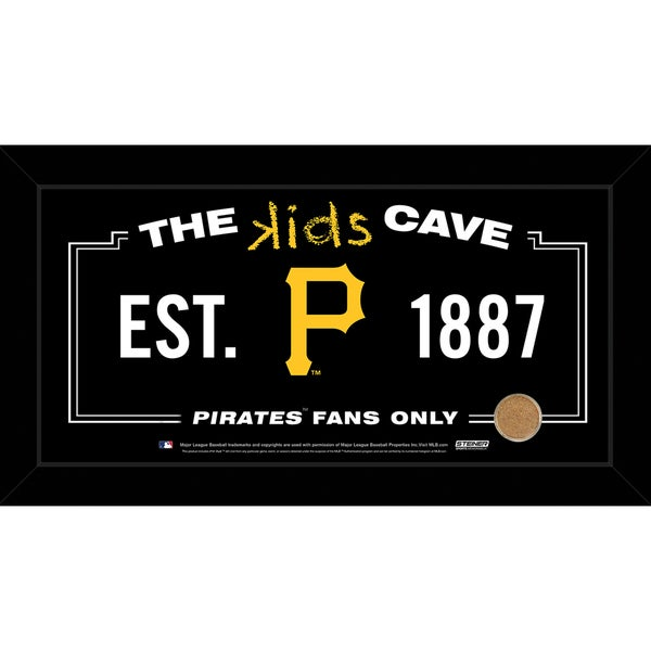 Steiner Sports MLB Pittsburgh Pirates 10x20 Kids Cave Sign w/ Game Used Dirt from PNC Park