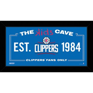 Steiner Sports NBA Los Angeles Clippers 10x20 Kids Cave Sign