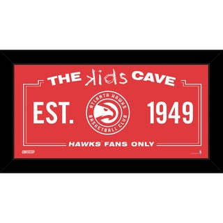 Steiner Sports NBA Atlanta Hawks 10x20 Kids Cave Sign