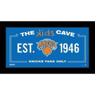 Steiner Sports NBA New York Knicks 10x20 Kids Cave Sign