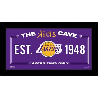 Steiner Sports NBA Los Angeles Lakers 10x20 Kids Cave Sign