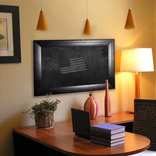 American Made Rayne Stitched Black Leather Blackboard/Chalkboard