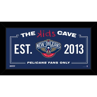 Steiner Sports NBA New Orleans Pelicans 10x20 Kids Cave Sign