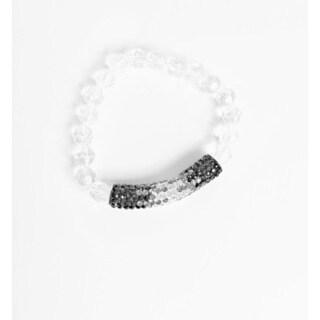 Pretty Little Style Black Rhinestone Bracelet Set