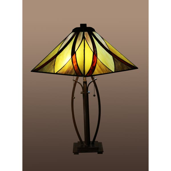Sheen 2 Light Multi Color 26 Inch Tiffany Style Table Lamp