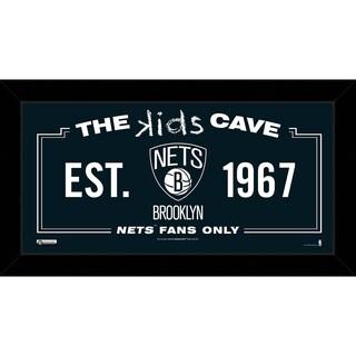 Steiner Sports NBA Brooklyn Nets 10x20 Kids Cave Sign