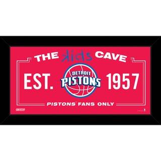 Steiner Sports NBA Detroit Pistons 10x20 Kids Cave Sign