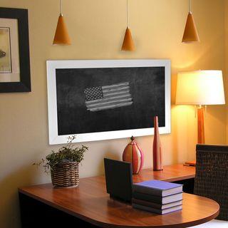 American Made Rayne White Satin Wide Blackboard/Chalkboard