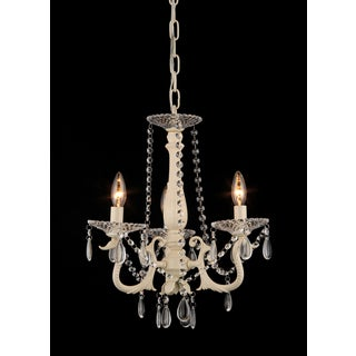 Marinara 3-light Off-white 16-inch Crystal Chandelier