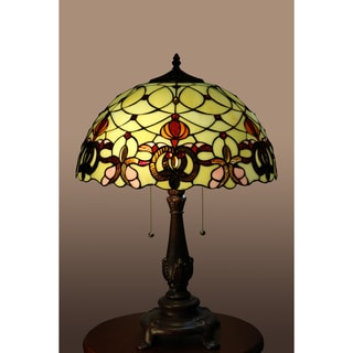 Jurie 2-light Off-white 23-inch Tiffany-style Table Lamp