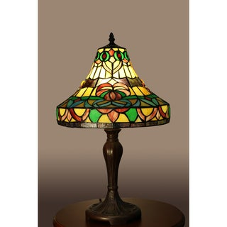 Chinee 1-light Multi-color 21-inch Tiffany-style Table Lamp