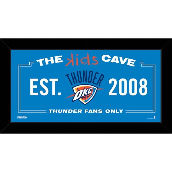 Steiner Sports NBA Oklahoma City Thunder 10x20 Kids Cave Sign