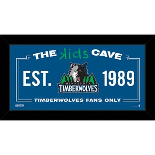 Steiner Sports NBA Minnesota Timberwolves 10x20 Kids Cave Sign