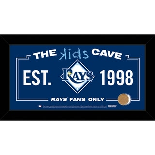 Steiner Sports MLB Tampa Bay Rays 10x20 Kids Cave Sign w/ Game Used Dirt from Tropicana Field