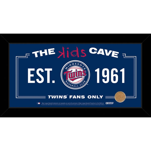 Steiner Sports MLB Minnesota Twins 10x20 Kids Cave Sign w/ Game Used Dirt from Target Field