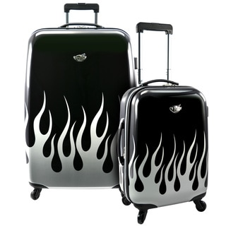 Bret Michaels by Traveler's Choice Road Tour 2-piece Expandable Hardside Spinner Luggage Set