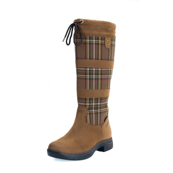 Dublin Ladies River Plaid Boots