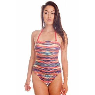Dippin Daisy's Multi Missoni Strapless One Piece Missy Bathing Suit