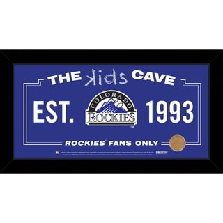 Steiner Sports MLB Colorado Rockies 10x20 Kids Cave Sign w/ Game Used Dirt from Coors Field