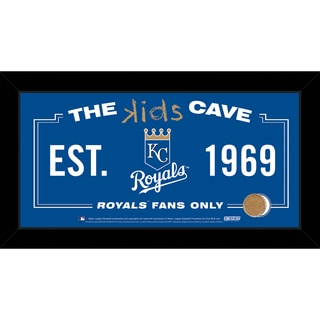 Steiner Sports MLB Kansas City Royals 10x20 Kids Cave Sign w/ Game Used Dirt from Kauffman Stadium