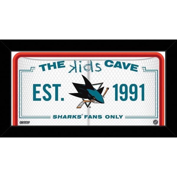 Steiner Sports NHL San Jose Sharks 10x20 Kids Cave Sign